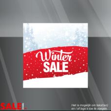 Winter etalage stickers