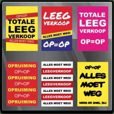 Leegverkoop sticker